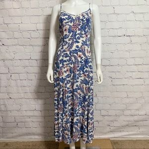 Spell Gypsy Women's Maxi Dress S White Blue Floral